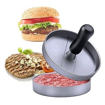 Molde de aluminio antiadherente para hamburguesas y barbacoas, accesorio esencial para cocina y parrilla