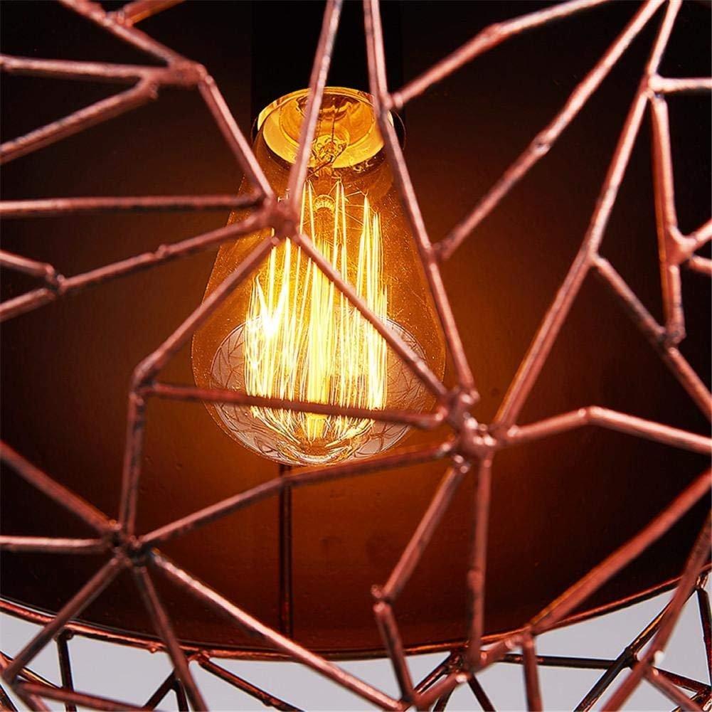 DHG Iluminación Interior Araña Lámparas Vintage Industrial Colgante Luz Steampunk de Techo Steampunk Luz Retro Loft Creative Metal Hollow Lámpara de Hierro Forjado Sala de Estar Dormitorio Bar Restaur 77ab68