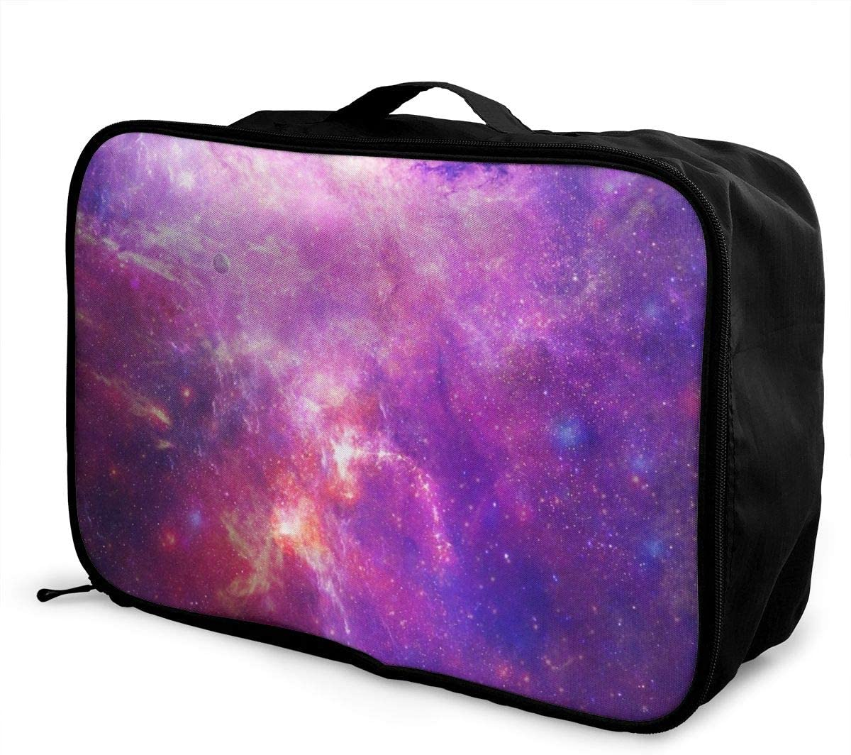Yunshm Space Nebula Galaxy Stars Bright Saturated Personalized Trolley Handbag Waterproof Unisex Large Capacity For Business Travel Storage