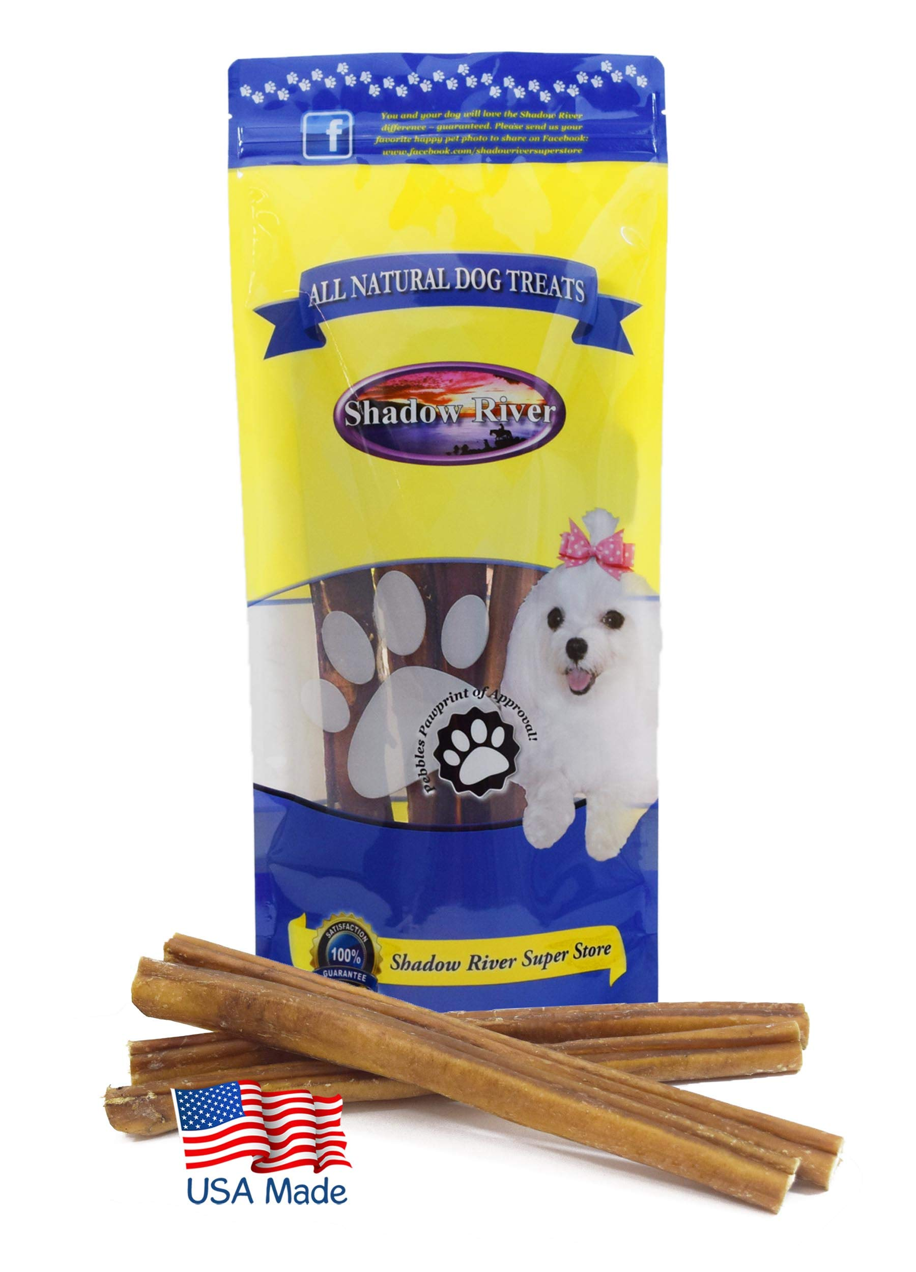 Shadow River 10 Pack 12 Inch Jumbo All Natural Beef Bully Sticks for Dogs