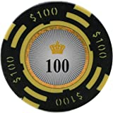Versa Games Crown Casino Clay Poker Chips in 13.5 Gram Weight - Pack of 50 (Choose Colors)
