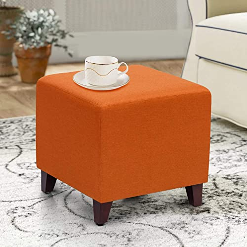 Asense Ottoman Small Fabric Square Foot Rest