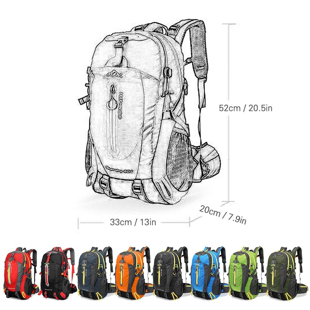 para Escalada Viajes Port/átil Mochila Trekking Laptop Daypack Actividades al Aire Libre Durable Impermeable Lixada 40L Resistente al Agua Mochila