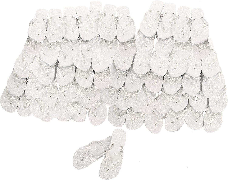 Lote 20 Chanclas Blancas, Contiene 10 Tallas M comprenden Las Tallas 37/38/39 y 10 Tallas L (42-43-44) Chanclas Boda Chanclas Detalle, Chanclas Eventos