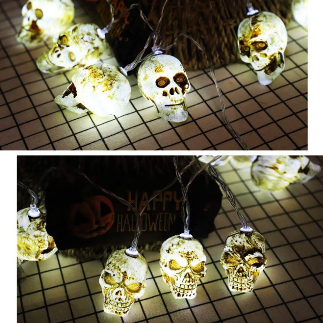 BIKFUN Halloween LED Lichterkette für Zimmer oder Außen, Lichterkette Glühbirnen Festtagsdekoration