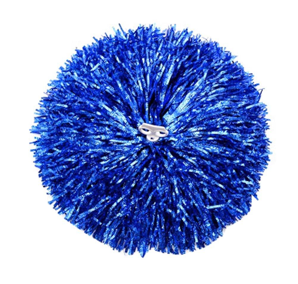 Set de 2 Animadoras Juegos de accesorios de flores de mano Pom Poms Dance Ball, Azul Black Temptation