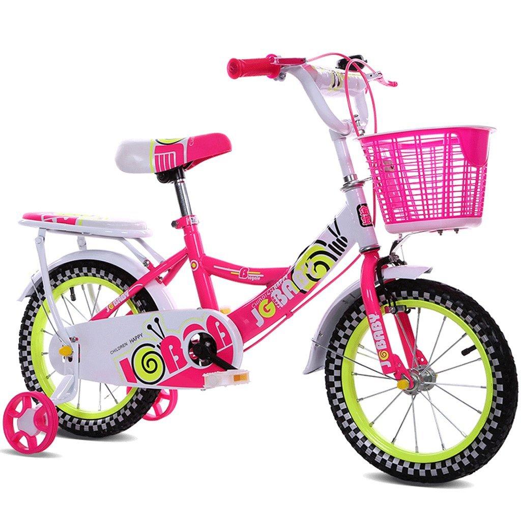 子供の自転車女性12インチ14インチ16インチの男の子の赤ちゃんの自転車3-10歳の子供の自転車 (色 : ピンク ぴんく, サイズ さいず : 16 inches) B07D9GZQ67 16 inches|ピンク ぴんく ピンク ぴんく 16 inches