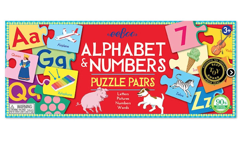 eeBoo Puzzle pairs - Alphabet & Numbers: Amazon.co.uk: Toys & Games