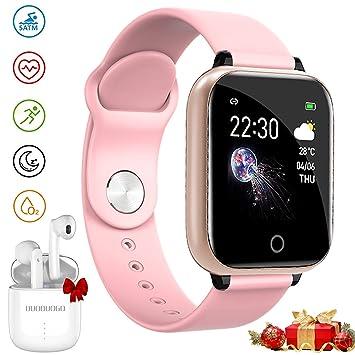 Smartwatch, Reloj Inteligente Pulsera y Auriculares Bluetooth ...