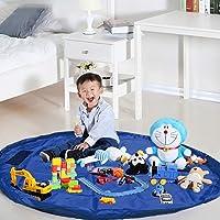 Kurtzy Toys Storage Bag Cum Mat Foldable Portable Holder for Kids Babies Home Travel Organizer, Multi