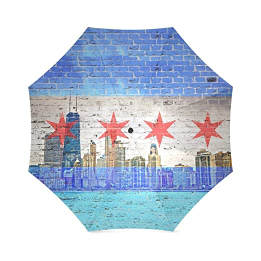 Friends Novelty Birthday Gifts City Skyline View Chicago Flag 100 Fabric And Aluminium