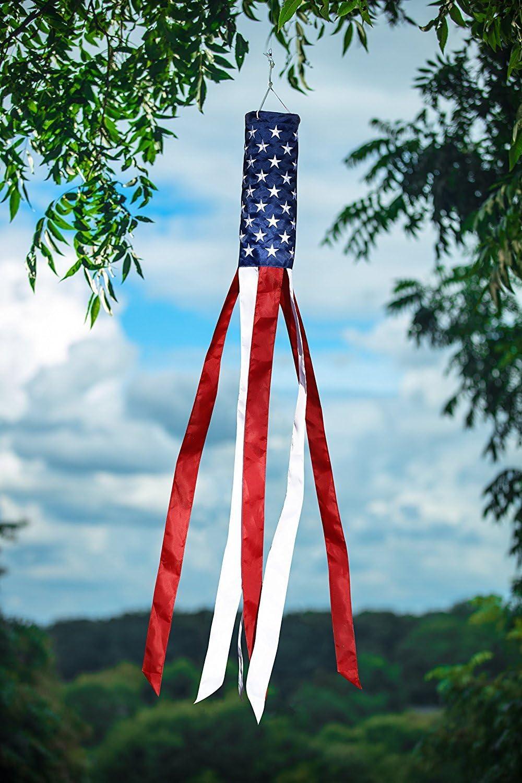 Bordado estrellas bandera americana viento calcetines 60