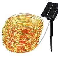 Tomshin Luzes de corda solares Lâmpada alimentada por energia solar Iluminação decorativa à prova d'água para festa de…