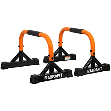 MiraFit Mini Parallettes - Paire - pour Les Entraînements de Poids  Corporel Calisthenics cc34670c874
