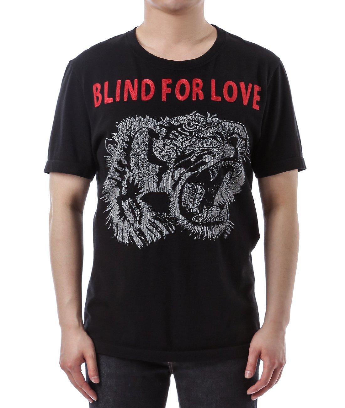 Wiberlux Gucci Men's Blind For Love Tiger Detail T-Shirt S Black