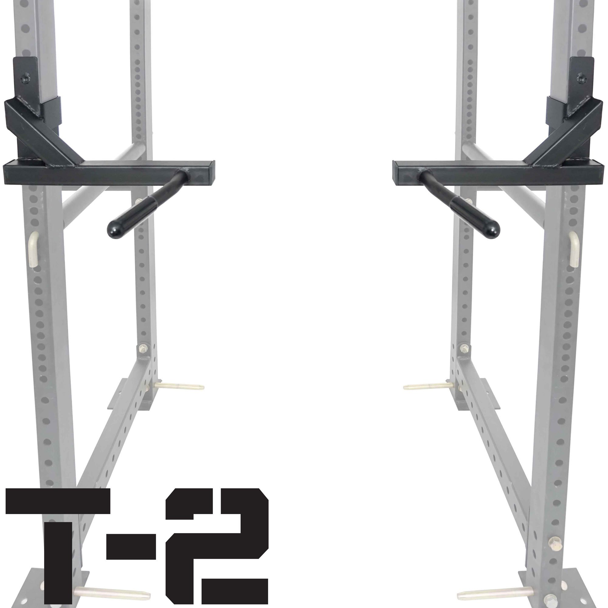 Titan T-2 Series Dip Bar Attachment for Power Rack Strength Training Workout by Titan Fitness