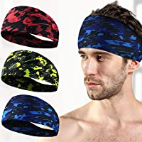 Prime Body Basics 3 Pack Workout Headbands for Men Women, Sweat Wicking Hair Bands for Sports Fitness Yoga Running…