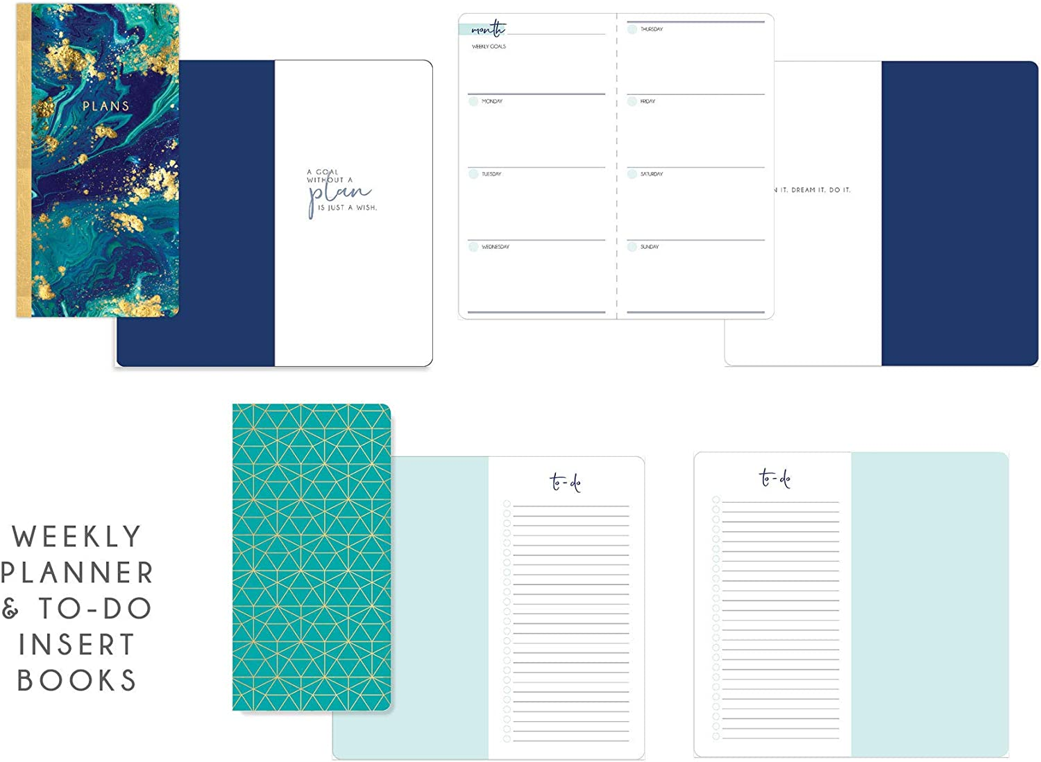 Paper House Productions JBB0009 Watercolor Journey Book Insert Set for Standard Size Travelers Notebook Dot Grid