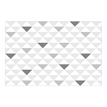 Vliestapete Keine Yk66 Dreiecke Grau Weiss Wandbild Breit