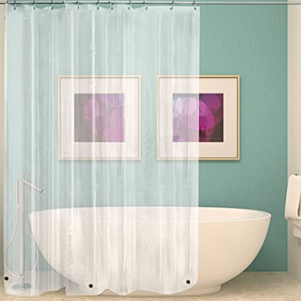 Bon Wimaha Clear Shower Curtain Liner 72x72, Waterproof Shower Liner Mildew  Resistant With Heavy Duty Magnets