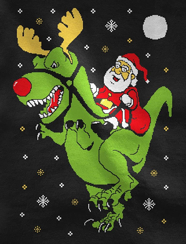 T-Rex Santa Ride Funny Ugly Christmas Sweater Toddler//Infant Kids T-Shirt