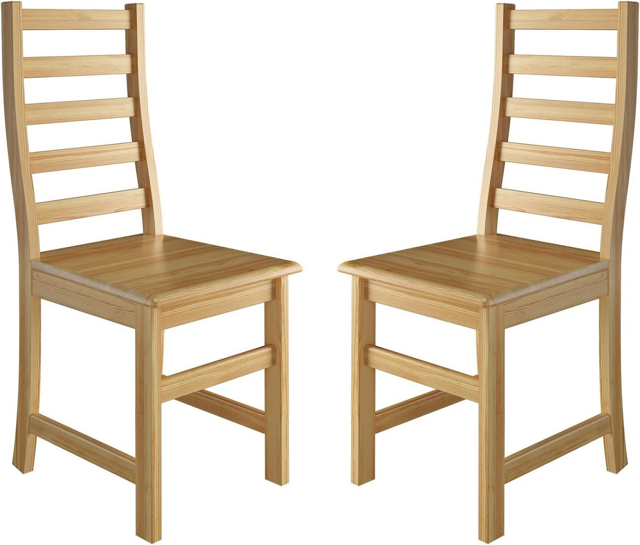 Erst Holz® Küchenstuhl Massivholzstuhl Esszimmerstuhl Kiefer