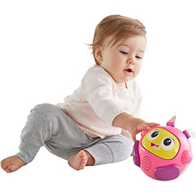 Fisher-Price Bright Beats Spin & Crawl Tumble Beat Belle Ball: Toys & Games