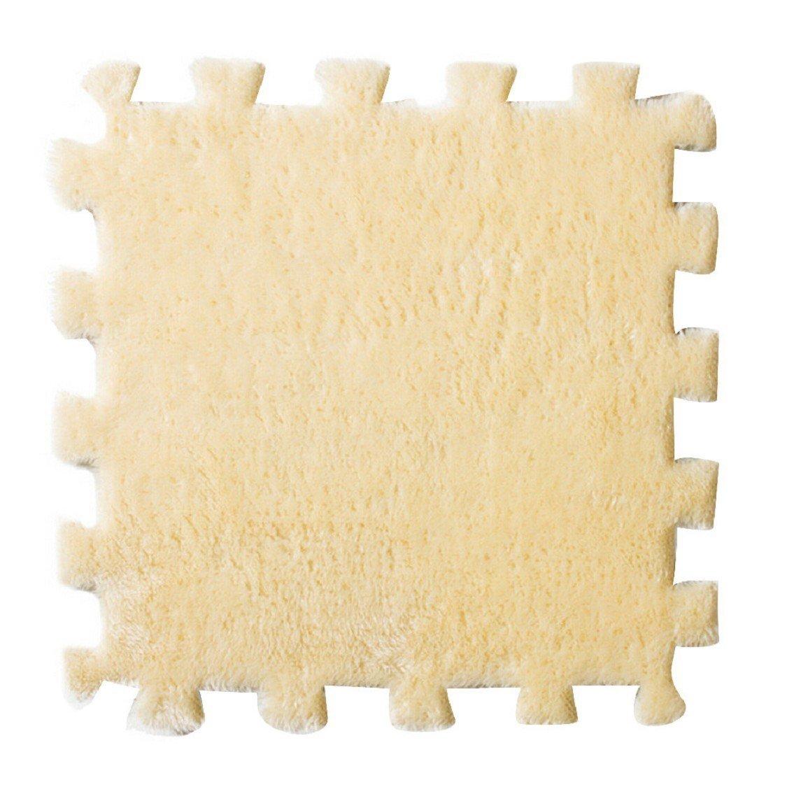 Ikevan 30X30cm Living Room Bedroom Children Soft Patchwork Carpet Splice Suede Foam Mats Carpet (Pink)