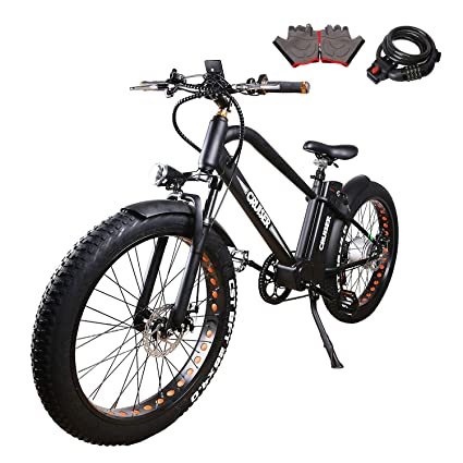 """e371ad8b924 NAKTTO 26"""" 500W Electric Bicycle Fat Tire Mountain EBike 6 Speeds  Gear, Removable 48V12A"""