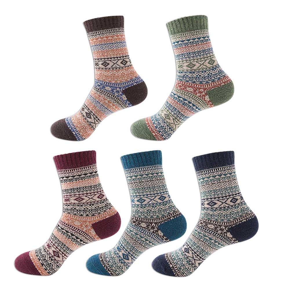 umaybeauty Hase Wolle Socken dick Wolle Stricken, Herbst Winter Warm ...