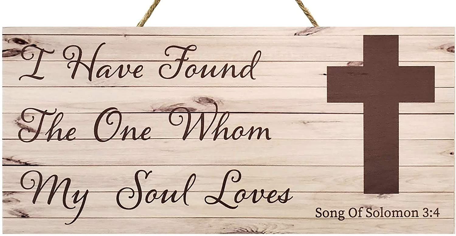 JennyGems I Have Found The One Whom My Soul Loves   Song of Solomon 3:4   Inspirational Gifts and Verses   Wedding Gifts   Wedding Signs   Made in USA