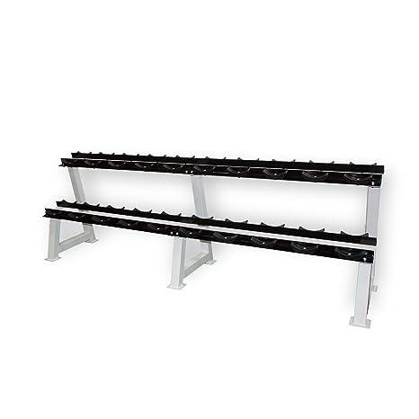 POWRX Mancuernas Rack Professional Pesas Soporte/Soporte para halteras/20 estantes/Puntas Calidad