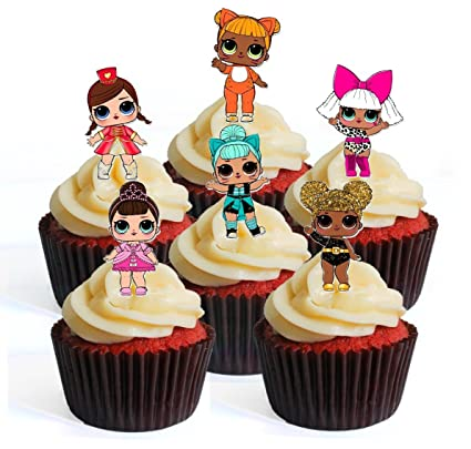 Amazoncom 12 LOL Surprise Doll PRECUT Edible Cupcake Toppers