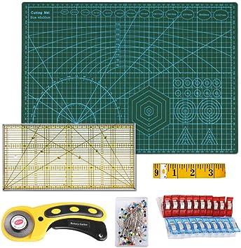 Owoda Set Base de Corte A3, 45 mm Cúter Rotativo, Patchwork de ...