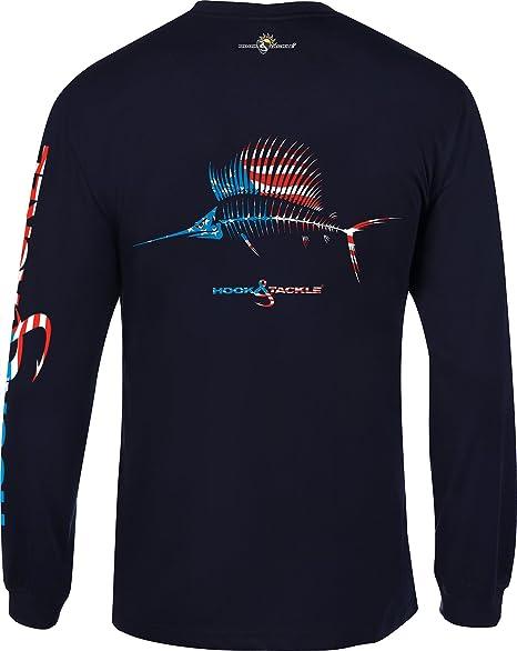 ab2997e8 Hook & Tackle® Men's American Sailfish | Long Sleeve | UV Sun Protection |  Performance Fishing Shirt