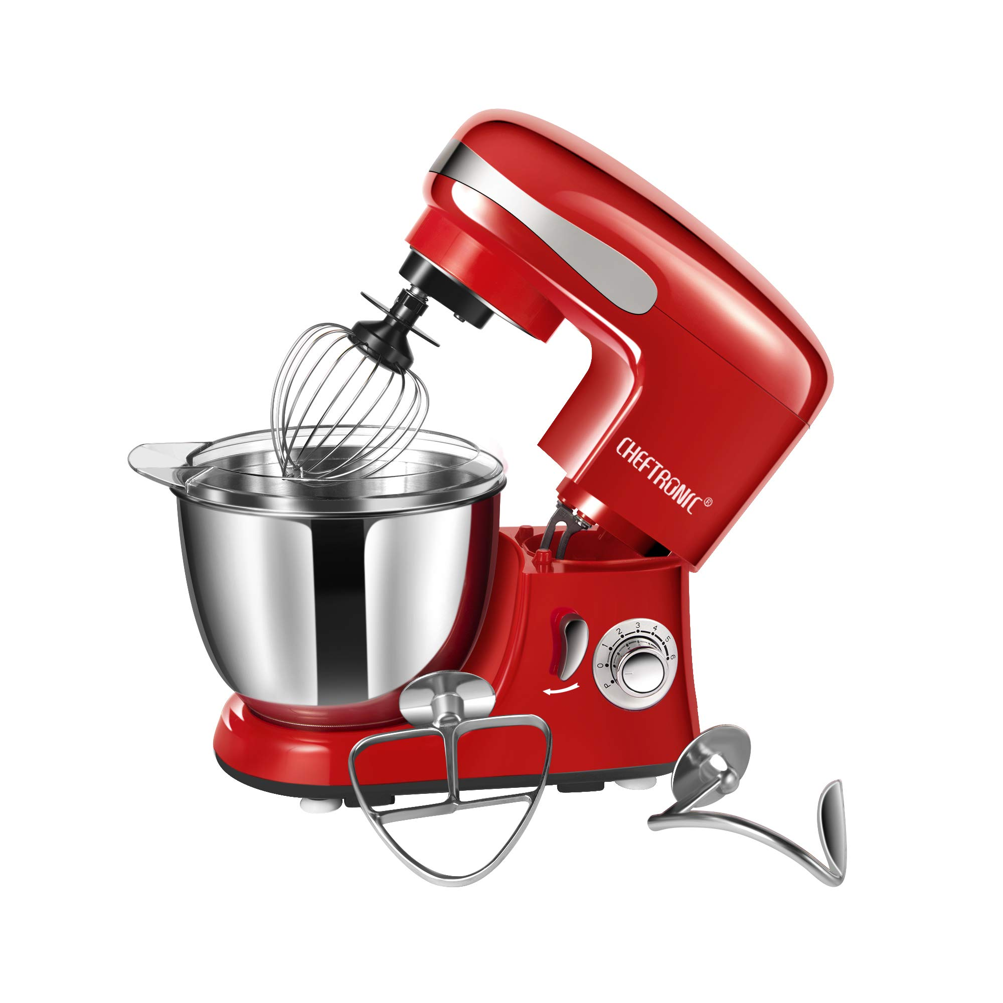 CHEFTRONIC SM928-Red Standing Mixer, One Size, Red by CHEFTRONIC