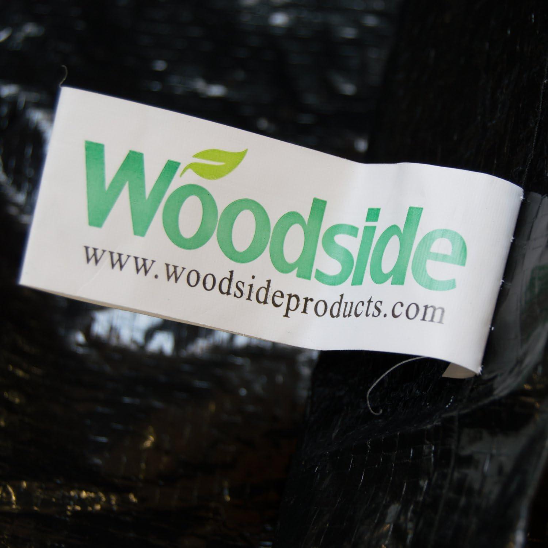 Woodside Black Outdoor Garden Sunbed Cover 2.04m x 0.69m x 0.44-0.76m//6.6ft x 2.25ft x 1.4-2.5ft