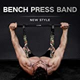 INNSTAR Adjustable Bench Press Band with Bar, Upgraded Push Up Resistance Bands, Portable Chest Builder Workout…