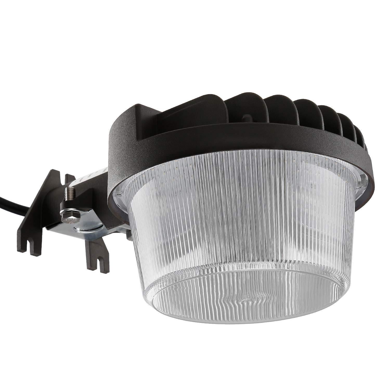 TORCHSTAR Dusk-to-Dawn LED Outdoor Barn Light (Photocell Included), 40W (300W Equiv.), 4800lm Ultra-Bright Area Light, 3000K Warm White, DLC & ETL-Listed Yard Floodlight, 5-Year Warranty
