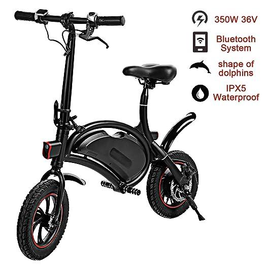 ANYWN Bicicleta Plegable eléctrica, 14 Pulgadas Plegable ...