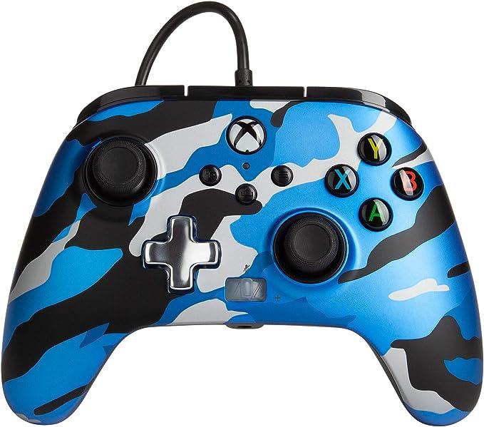 Bộ điều khiển có dây nâng cao PowerA cho Xbox - Metallic Blue Camo, Gamepad, Bộ điều khiển trò chơi video có dây, Gamepad, Xbox Series X   S