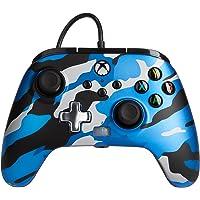 Mando con cable mejorado PowerA para Xbox: en Metallic Camo Azul, Mando, Mando para Videojuegos con Cable, Mando de…