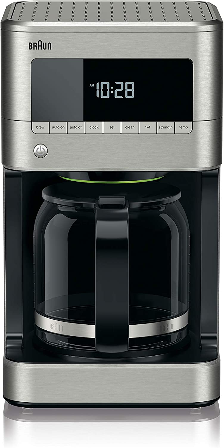 Braun KF7170SI BrewSense Drip Coffeemaker, 12 cup, Stainless Steel (Renewed)