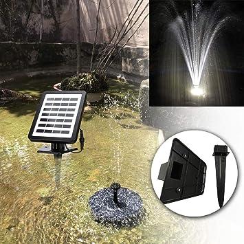 LED Wasserspiel Solarpumpe mit Akku Springbrunnen Gartenbrunnen Teichpumpe Gifts