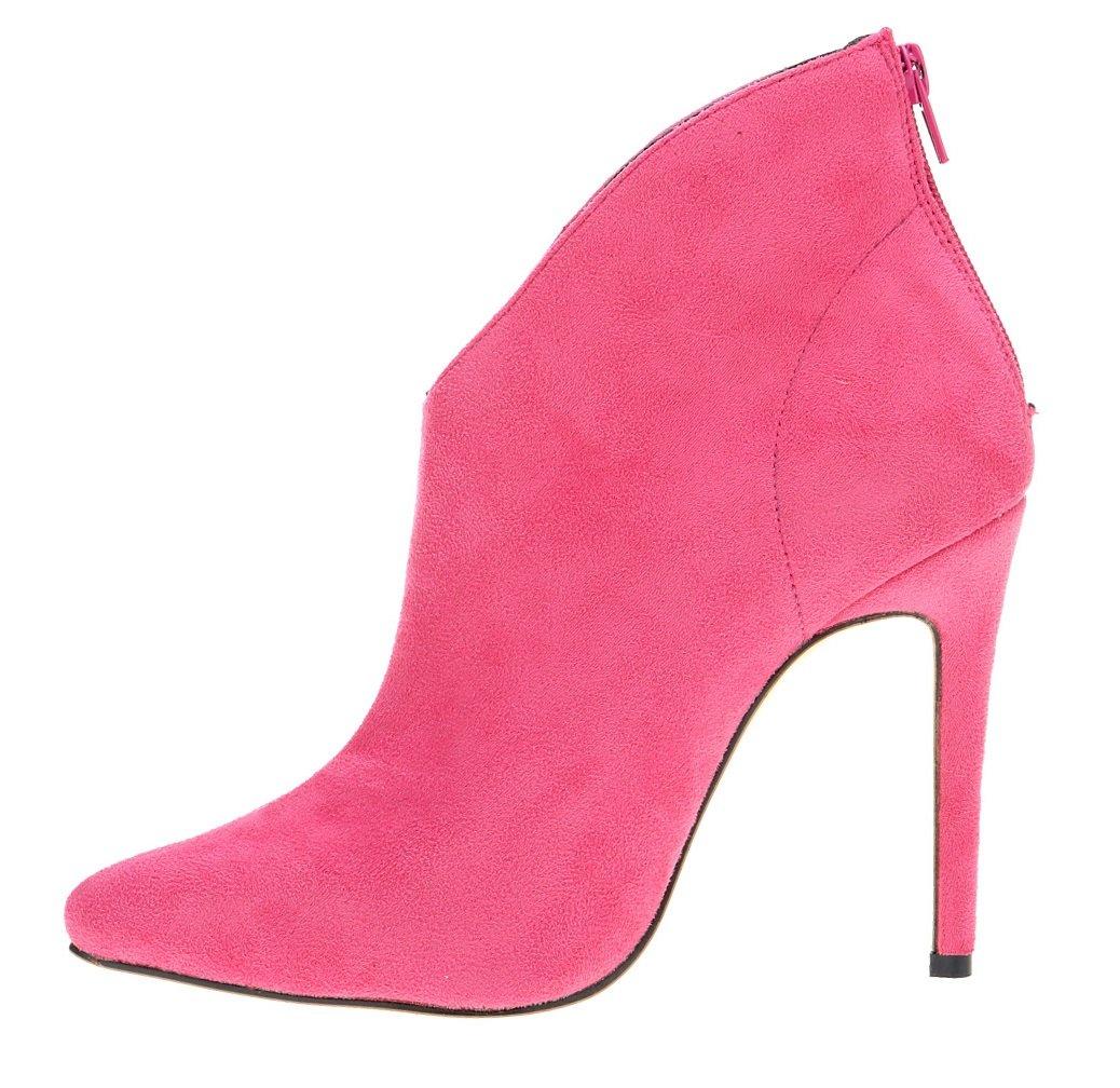 HooH Femmes 10175 Flanelle B01M0TIUET Pointed Toe Pumps HooH Bottines Rose Rouge 23a3f5c - automaticcouplings.space