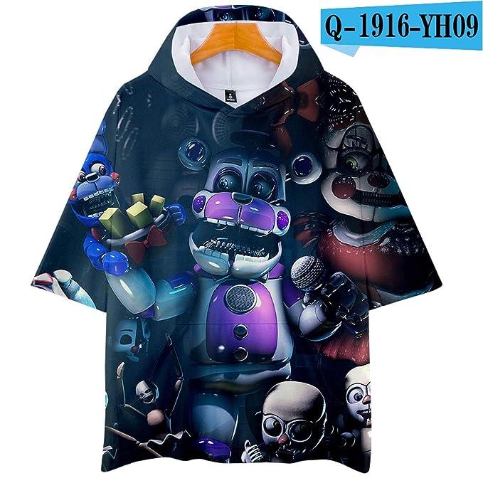 Amazon.com: KoreaFashion FNAF Camisa de Merch de algodón ...