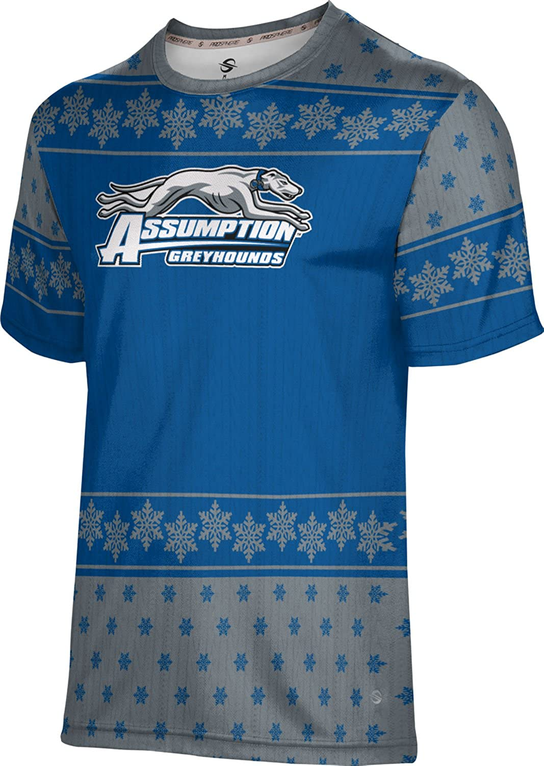 Snowflake ProSphere Assumption College Ugly Holiday Mens Performance T-Shirt