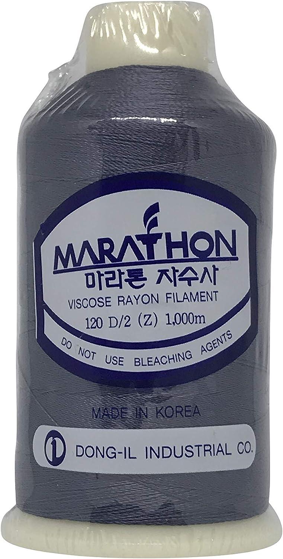 Filo da ricamo grigio scuro Marathon Rayon 1323 1000 m