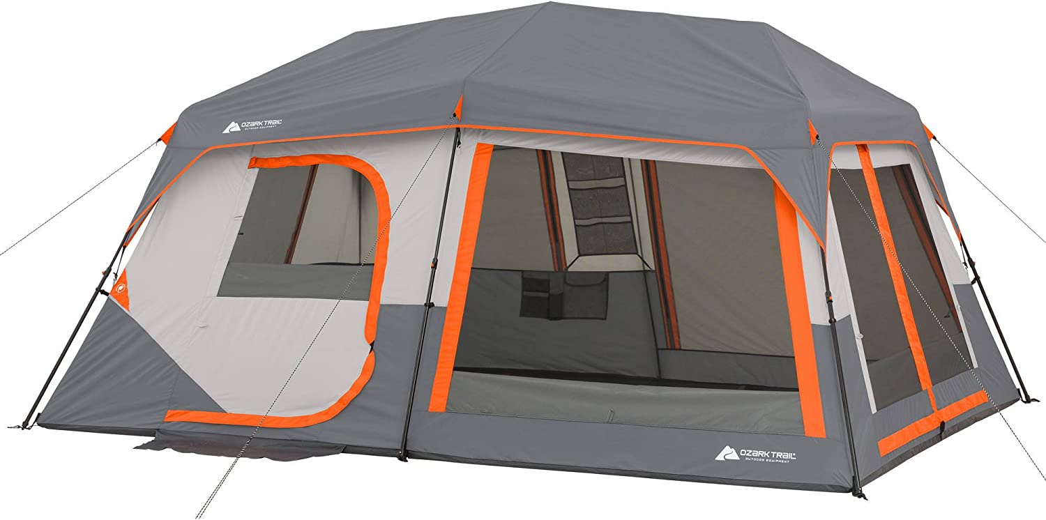 OZARK POP UP FAMILY TENT WITH CABIN LIGHTS