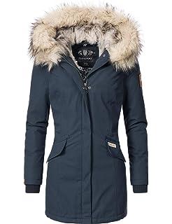 Navahoo CRISTAL Premium Donna Parka Inverno Cappotto Giacca Alla Moda Pelo Sintetico Caldo